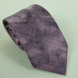 Calvin Klein Mens Neck Tie, Silk, Purple Black